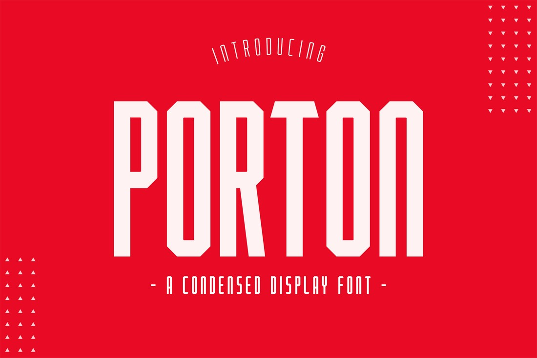 Porton - Free Condensed Poster Font