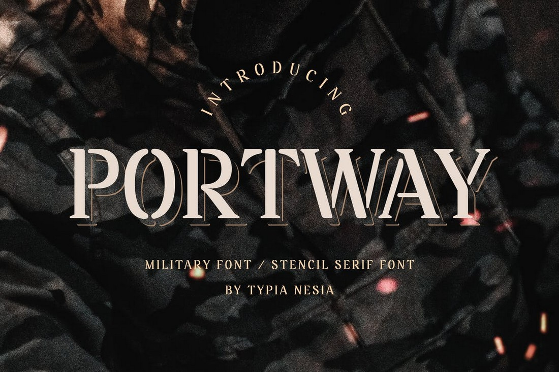 Portway-Military-Stencil-Poster-Font 30+ Best Fonts for Posters design tips