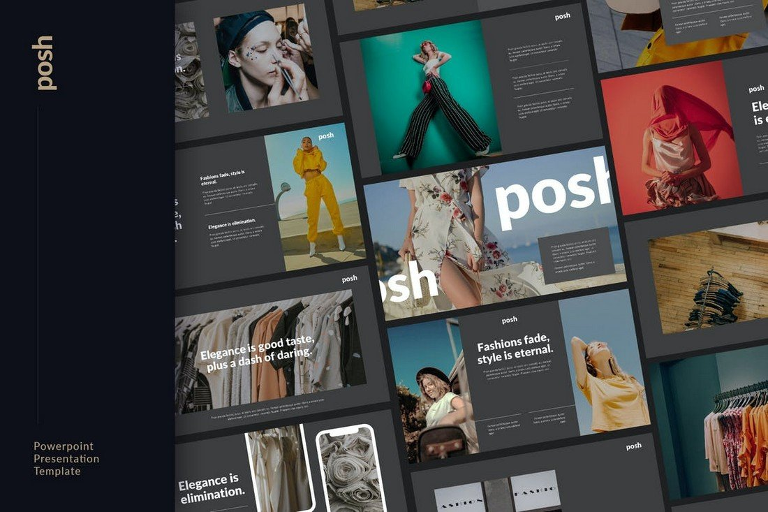 Posh - Fashion Showcase Powerpoint Template