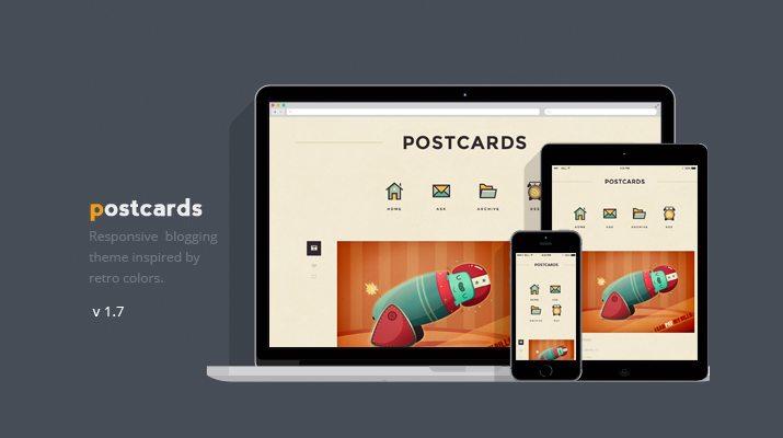 Postcards-Responsive-Blogging-Theme 50+ Best Free & Premium Tumblr Themes 2018 design tips