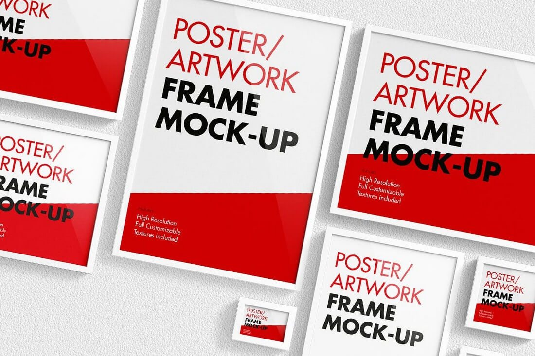 Poster-Artwork-Frame-Mock-Up 30+ Best Poster Mockup Templates 2021 design tips