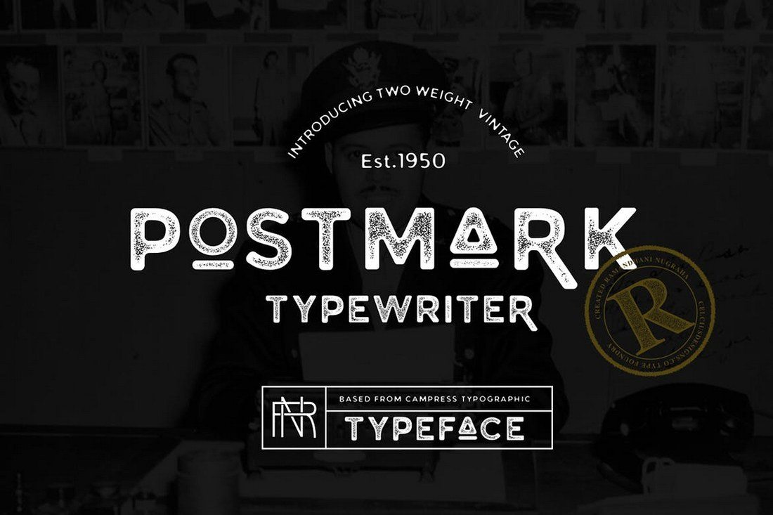 Postmark-Typewriter 30+ Best Fonts for Logo Design design tips