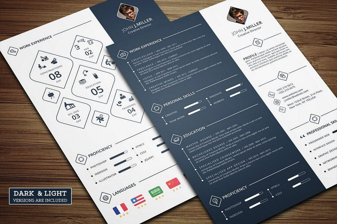 Power-CV 50+ Best CV & Resume Templates 2020 design tips