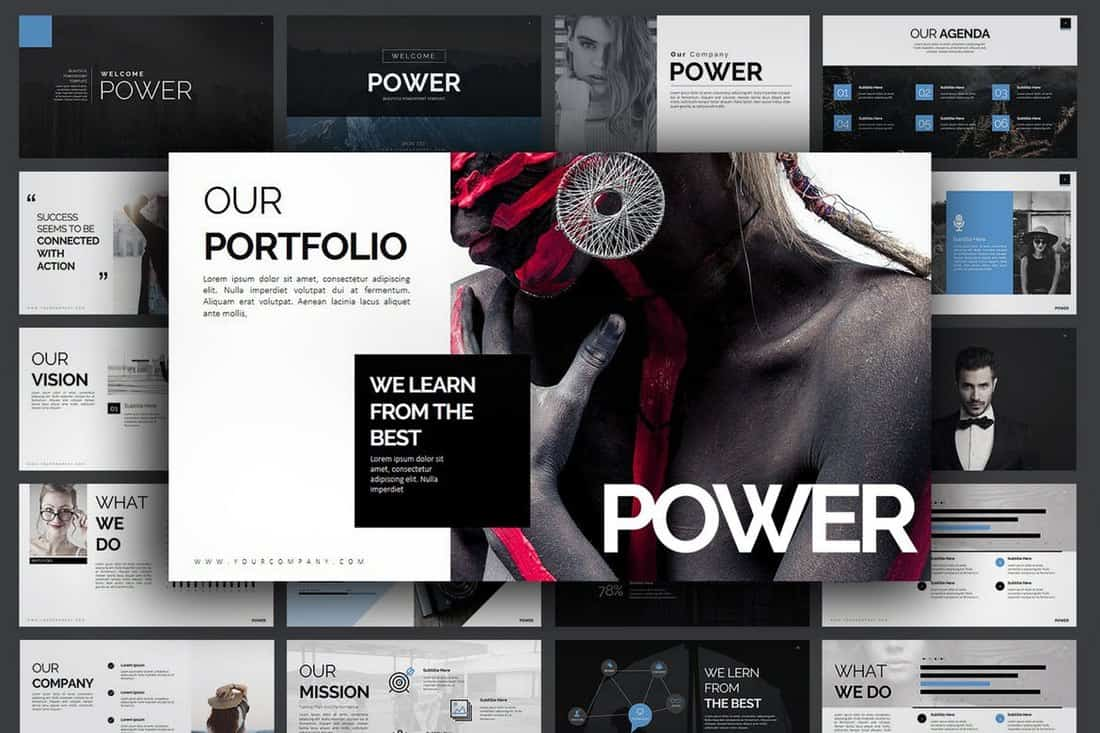 Power - Professional PowerPoint Template