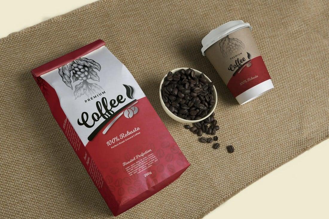 Premium Coffee Packaging Template