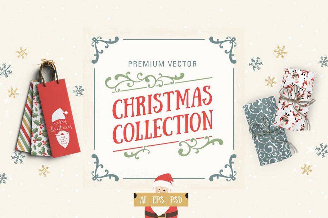 Premium-Vector-Christmas-Collection 70+ Christmas Mockups, Icons, Graphics & Resources design tips