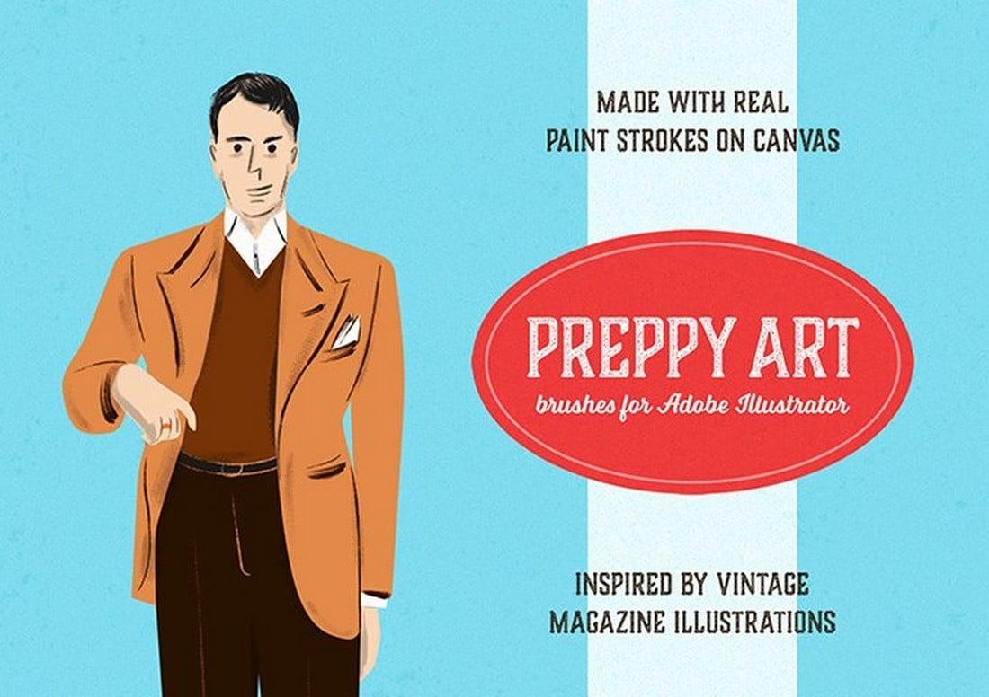 Preppy-Art-Free-Illustrator-Brushes 25+ Best Free Adobe Illustrator Brushes 2021 design tips