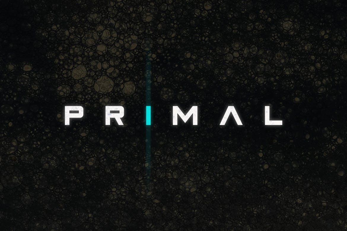20 best space fonts design shack primal is a sci fi horror themed font that features a bold and wide letter design its perfect for designing a modern logo signage business card reheart Image collections