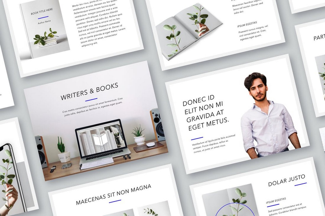 Printed Word - PowerPoint Flyer Template