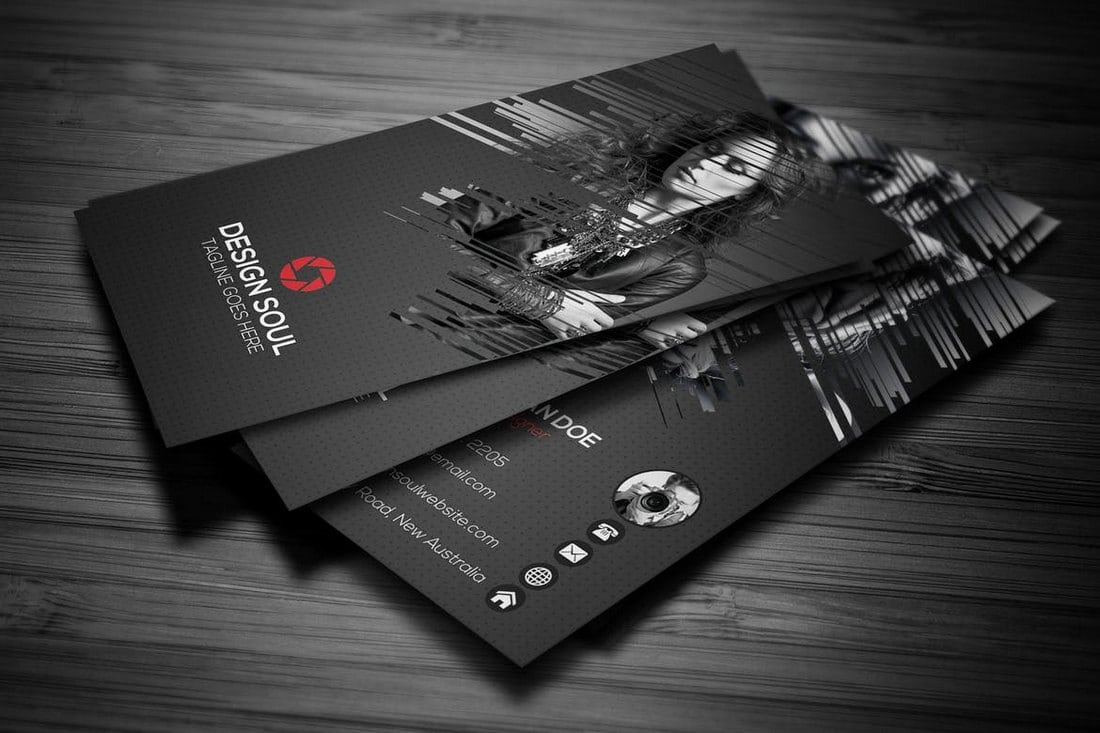 Photography business cards 20 templates ideas design shack pro photography business card template reheart Choice Image