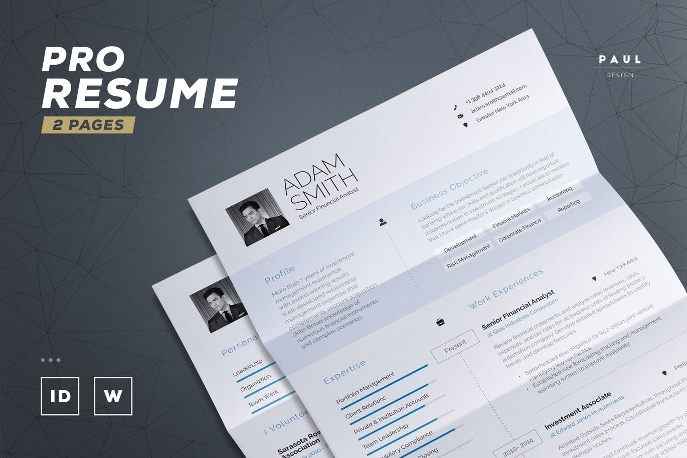 Resume in word or indesign resume template modern resume resume pdf cv template maxwellsz