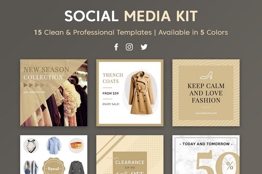 Pro-Social-Media-Kit 20+ Best Social Media Kit Templates & Graphics design tips