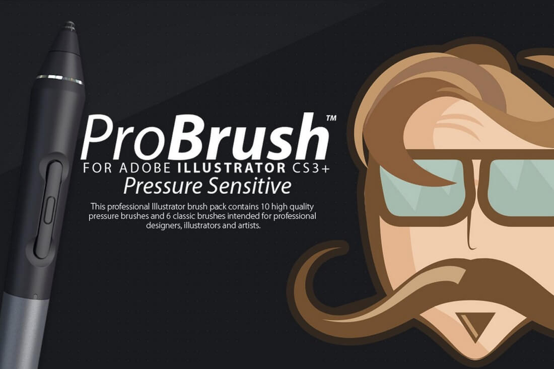 ProBrush-Pressure-Sensitive 30+ Best High-Quality Photoshop & Illustrator Brushes design tips