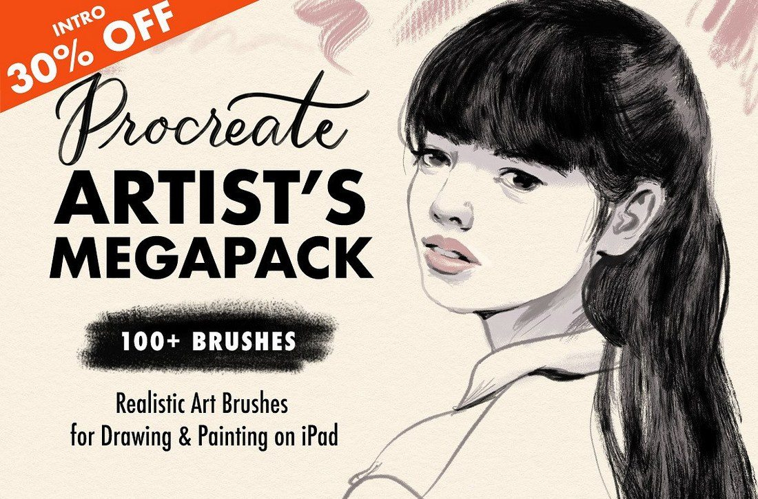 Procreate-Brushes-Artists-Megapack 30+ Best Procreate Brushes design tips