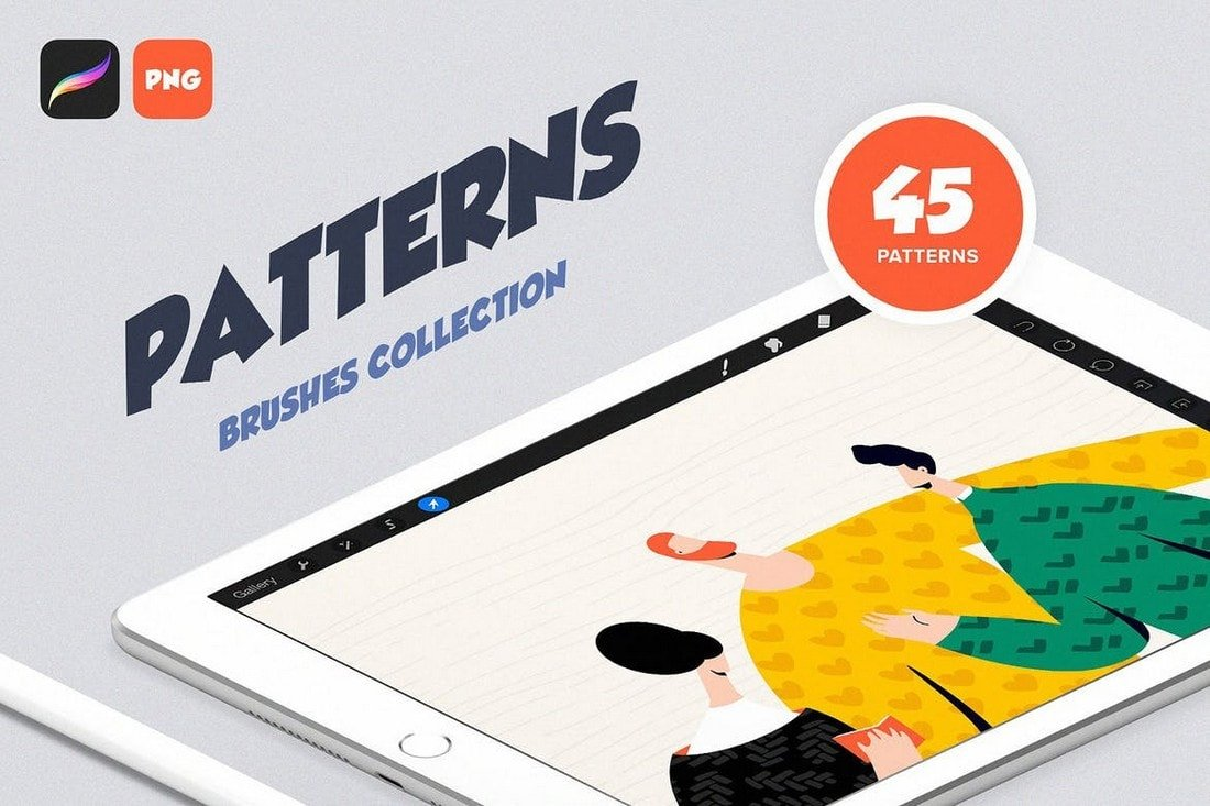 Procreate-Patterns-Brushes-Set 30+ Best Procreate Brushes 2020 (Free & Pro) design tips