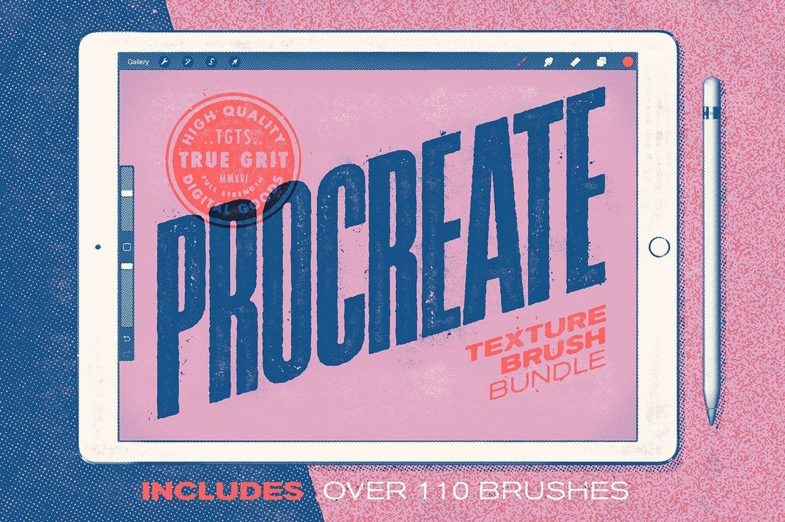 Procreate-Texture-Brush-Bundle 30+ Best Procreate Brushes design tips
