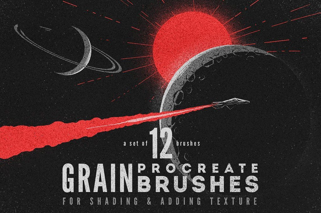 Procreate-grain-brushes 30+ Best Procreate Brushes design tips