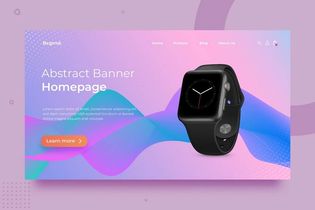 Product Landing Page Background Template