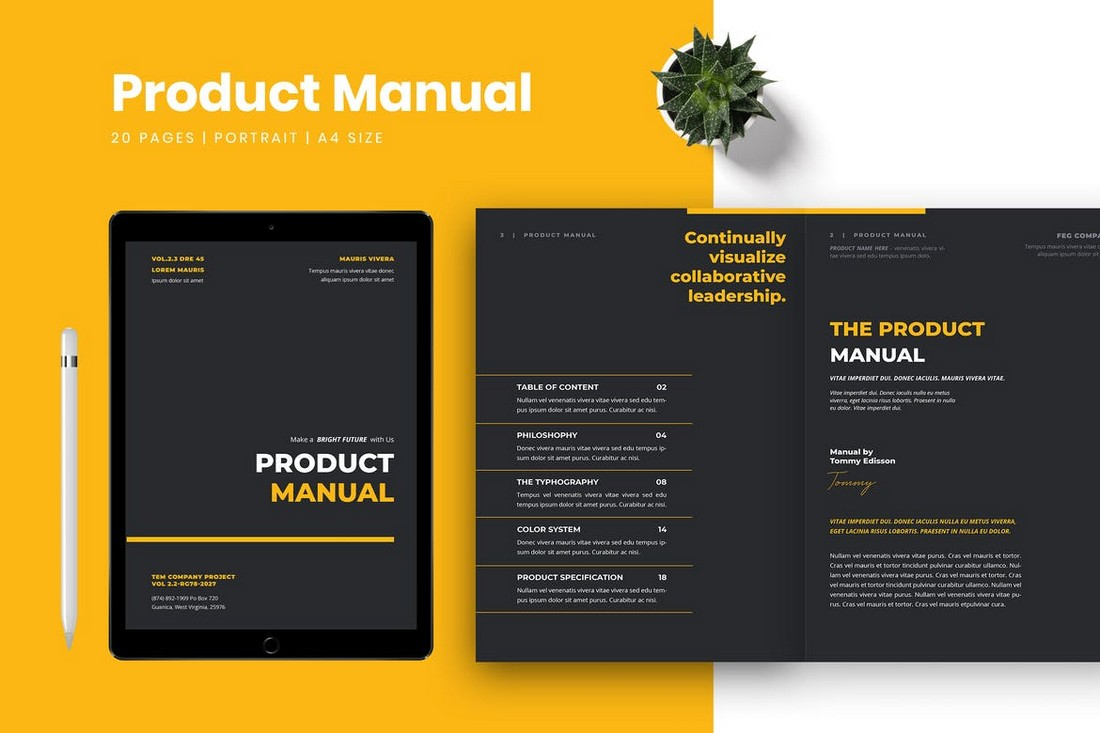 Product Manual Word Brochure Template