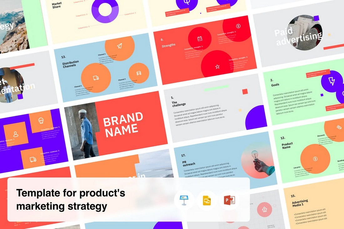 Product Marketing Strategy Presentation Template