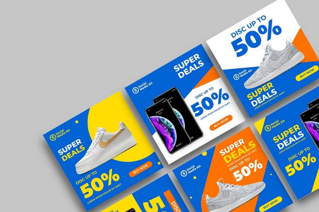 Product-Sale-Social-Media-Templates 40+ Best Social Media Kit Templates & Graphics design tips