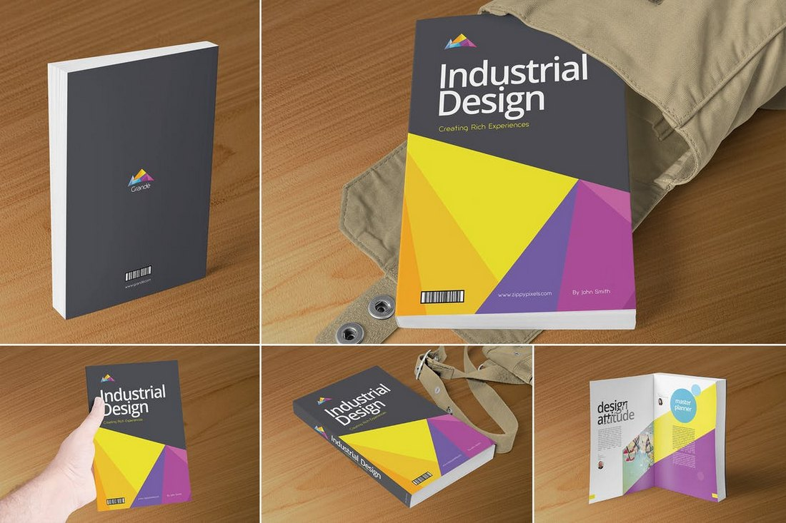 Professional-Book-Cover-Mockups 20+ Best Book Cover Mockup Templates design tips