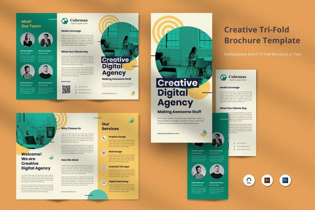 Professional-Brochure-Tri-Fold-Template 20+ Professional Brochure Templates & Designs design tips  Inspiration