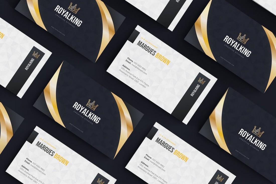 Professional Business Card AI Template