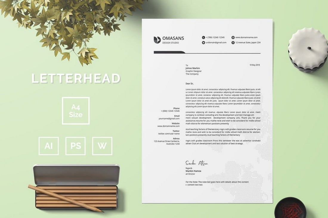 Professional MS Word Letterhead Template