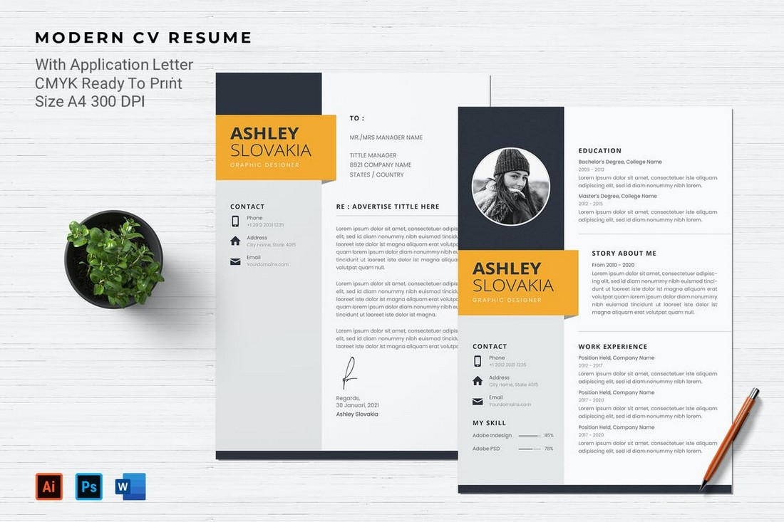 Professional Resume & Cover Letter Template