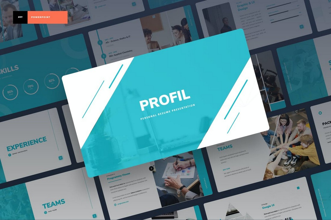 Profil - Personal Portfolio PowerPoint Template
