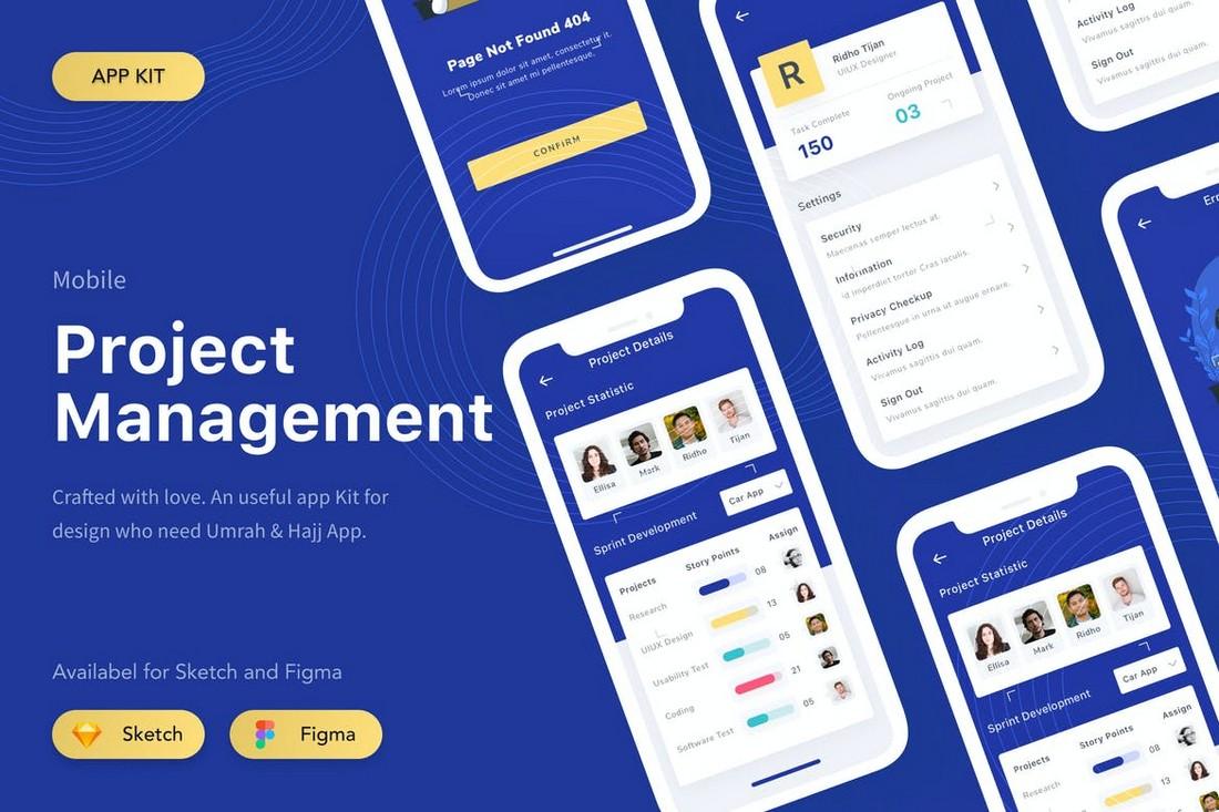 Project Management App Figma Template