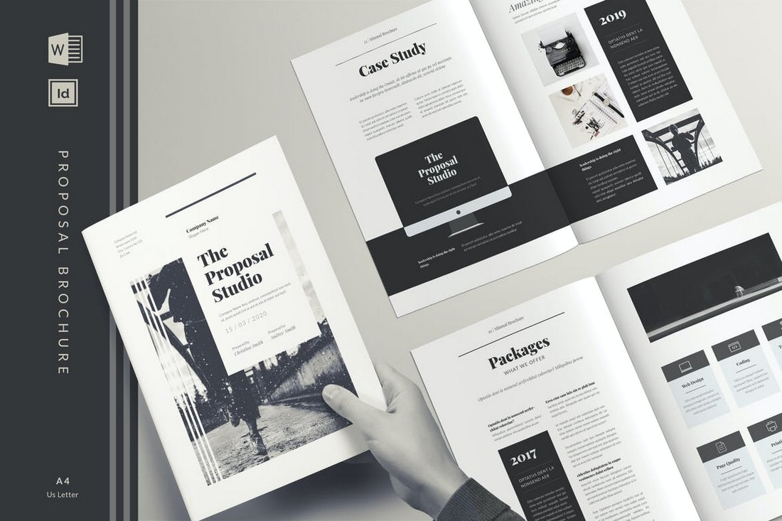 Project Proposal Brochure Template for Word