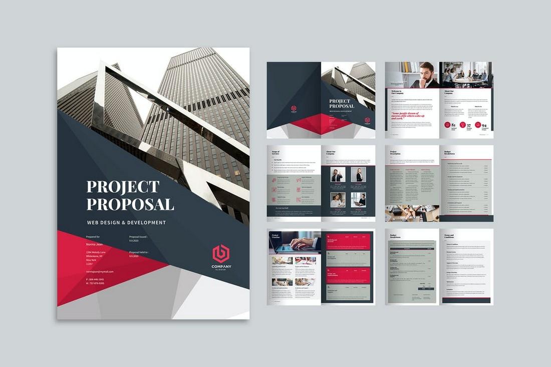 Project-Proposal-Corporate-Brochure-Template 70+ Modern Corporate Brochure Templates design tips