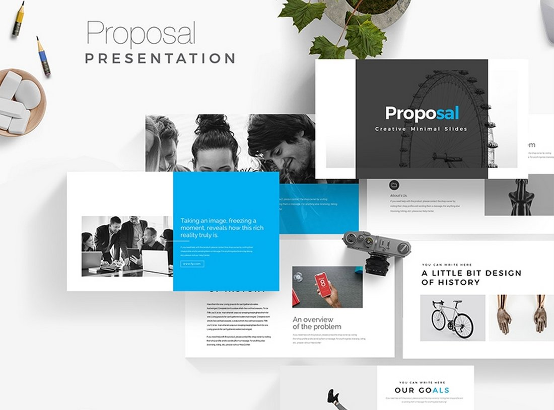 Project-Proposal-Free-PowerPoint-Presentation-Template 30+ Best Business & Corporate PowerPoint Templates 2021 design tips
