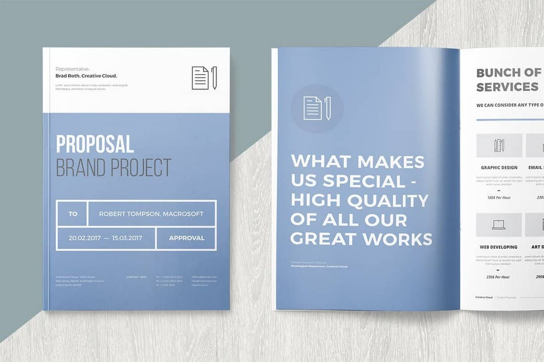 Project Proposal InDesign Template