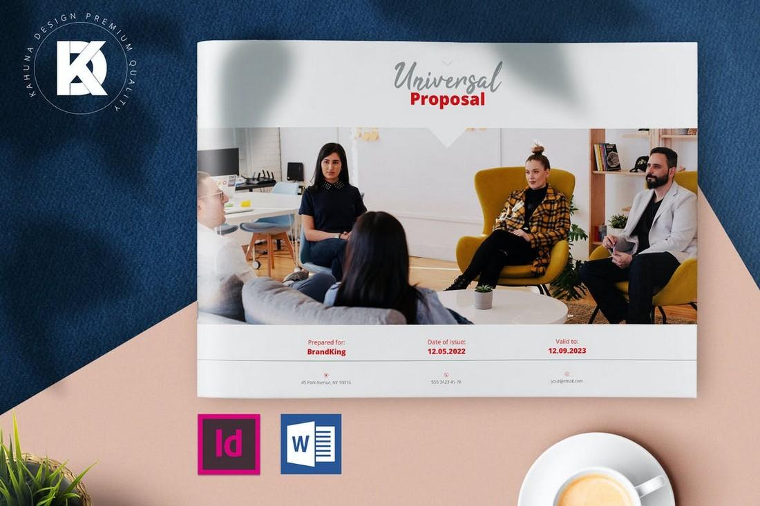 Project Proposal - Landscape Word Brochure Template