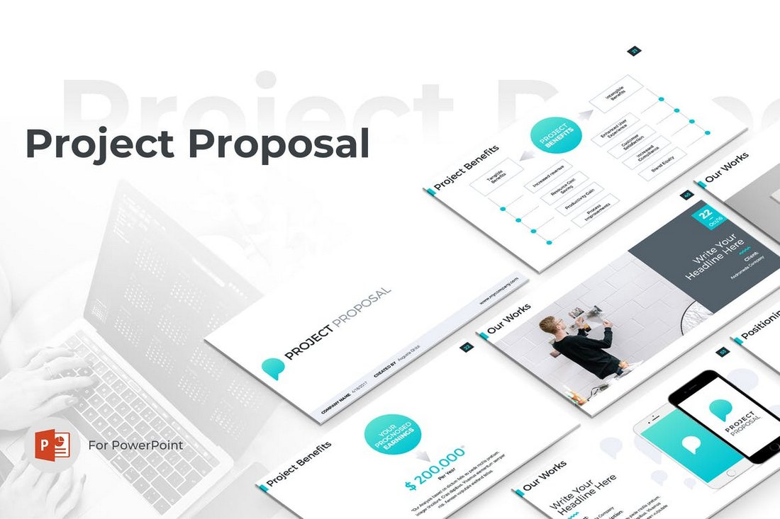 Project-Proposal-PowerPoint-Template 20+ Modern Professional PowerPoint Templates design tips