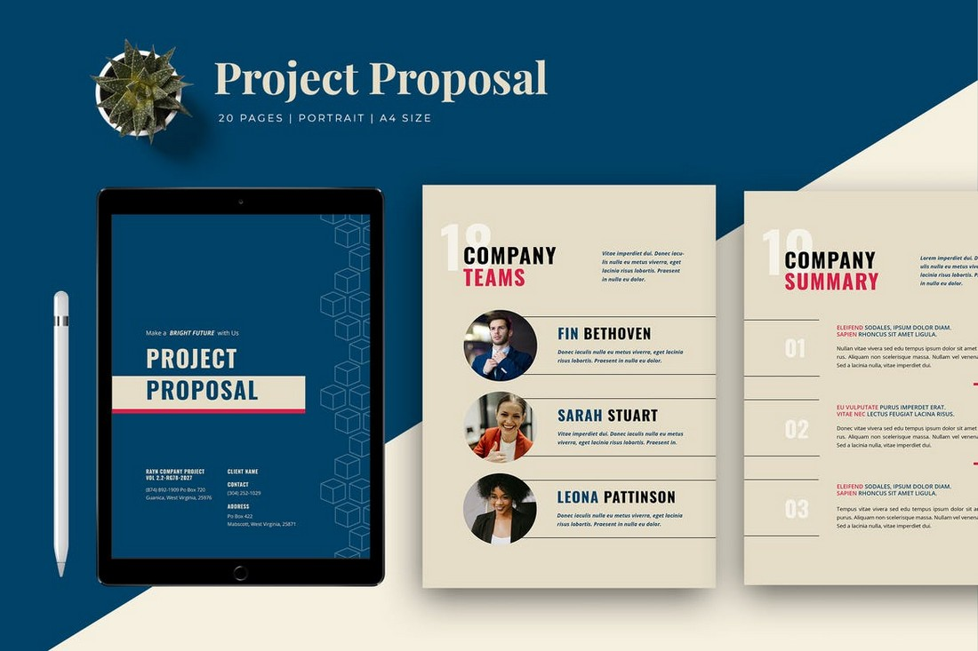 Project Proposal Word Brochure Template