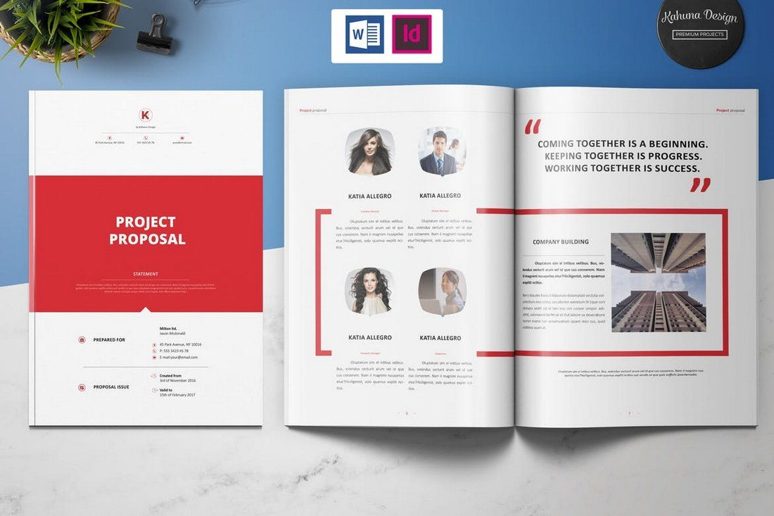 microsoft word project proposal this brochure template