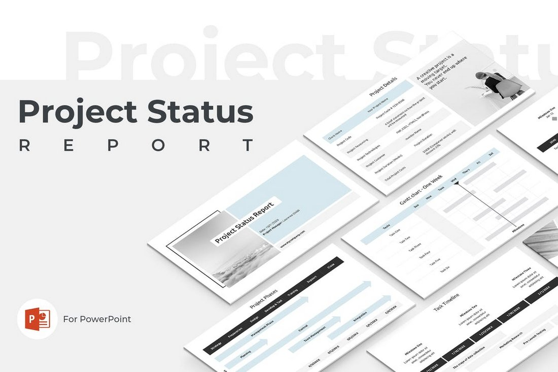 Project Status Report - PowerPoint Template