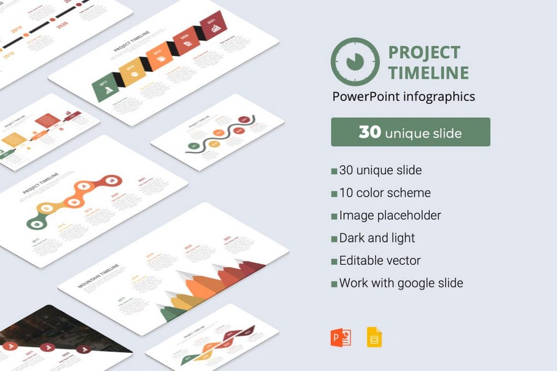 Project Timeline - PowerPoint Infographics Template