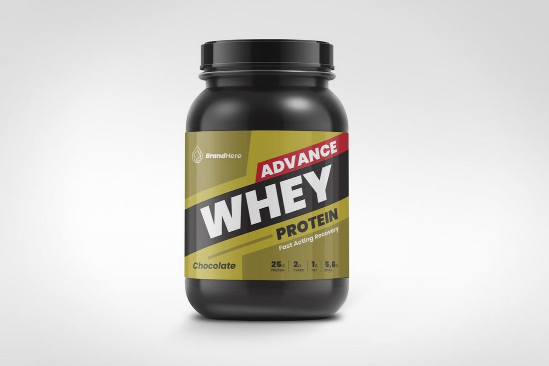 Protein Suppliment Label Template