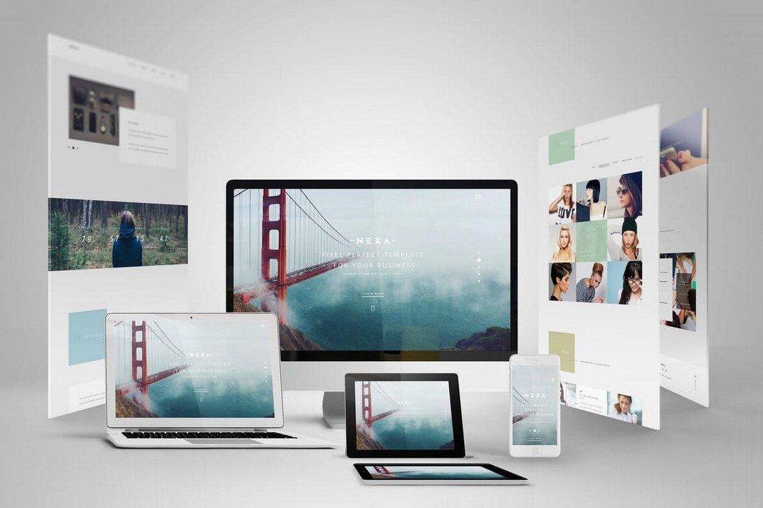 30 Best Responsive Website App Mockup Templates Design Shack