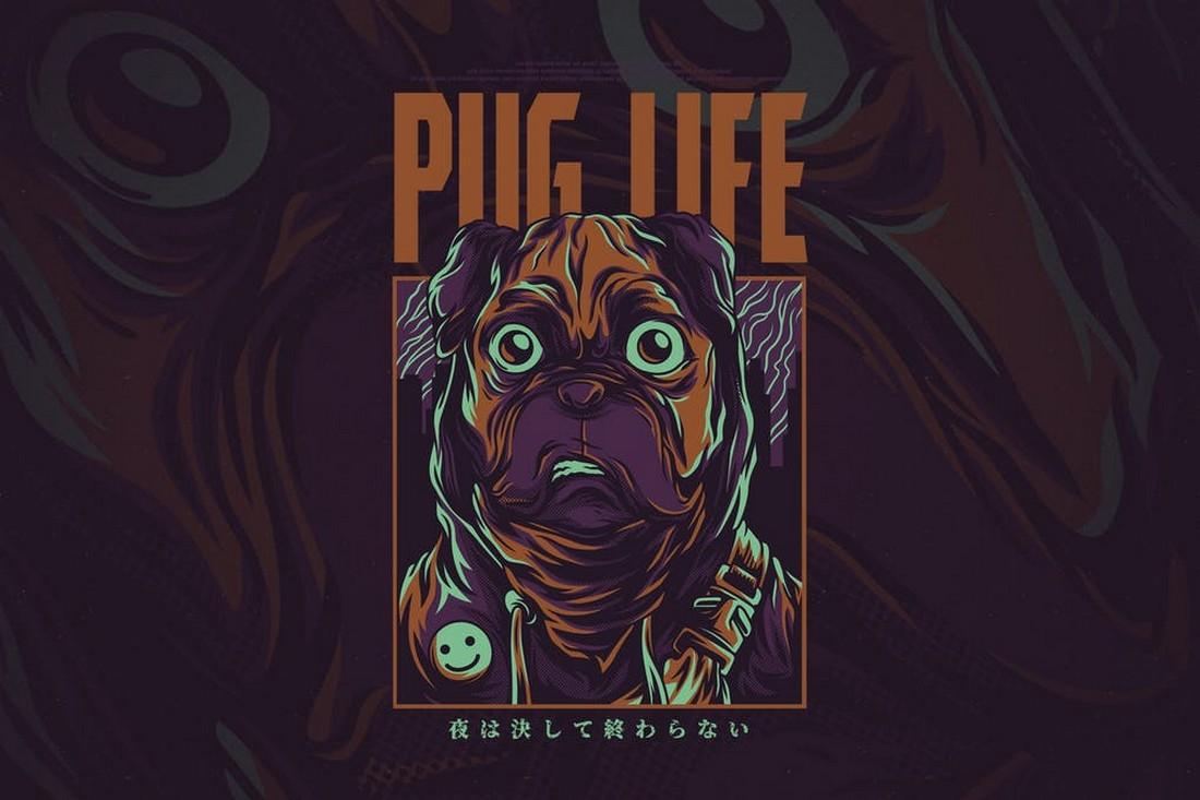 Pug Life - T-Shirt Design for Dog Lovers