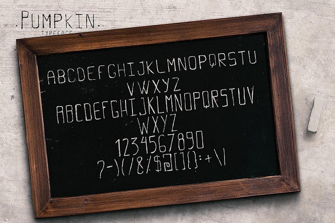 Pumpkin - Alphabet & Numbers Font
