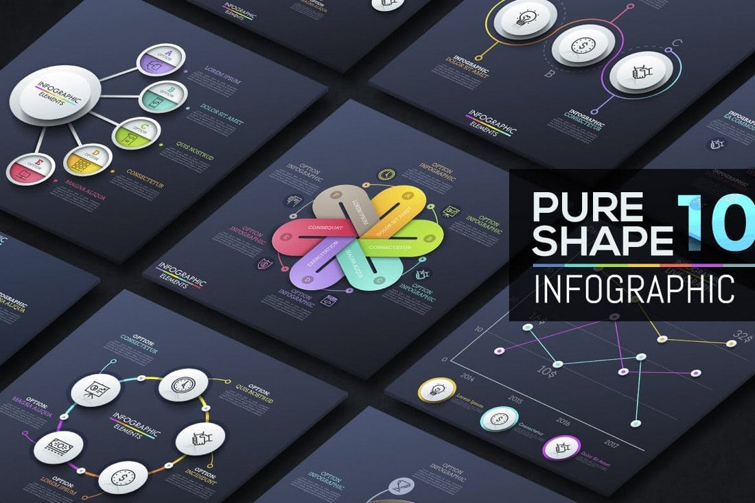Pure-Shape-Infographic-v10 40+ Best Infographic Templates (Word, PowerPoint & Illustrator) design tips