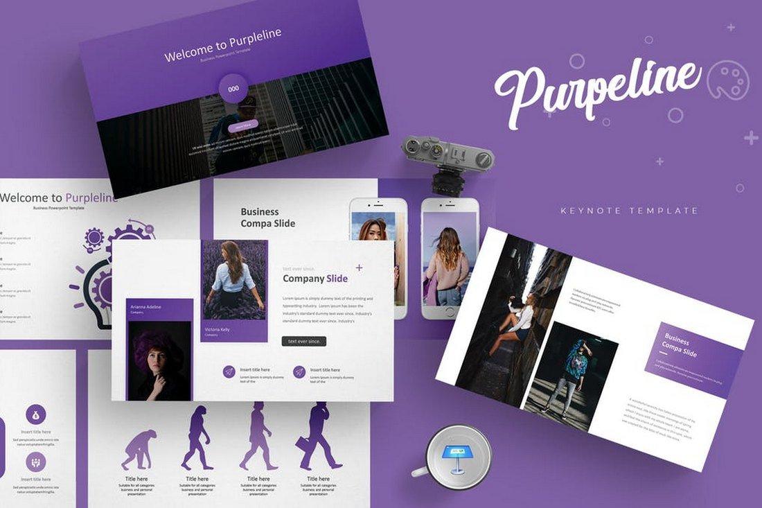 Purpleline-Keynote-Template 50+ Best Keynote Templates of 2020 design tips  Inspiration|keynote|powerpoint|presentation