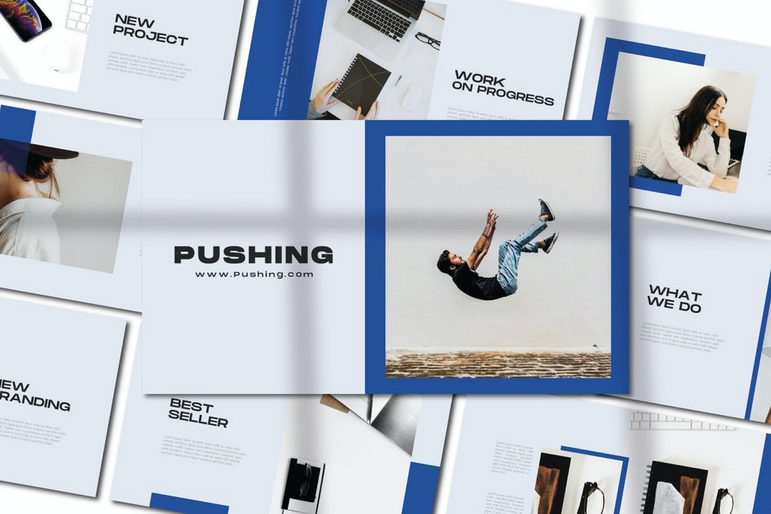 Pushing - Minimal Corporate Powerpoint Template