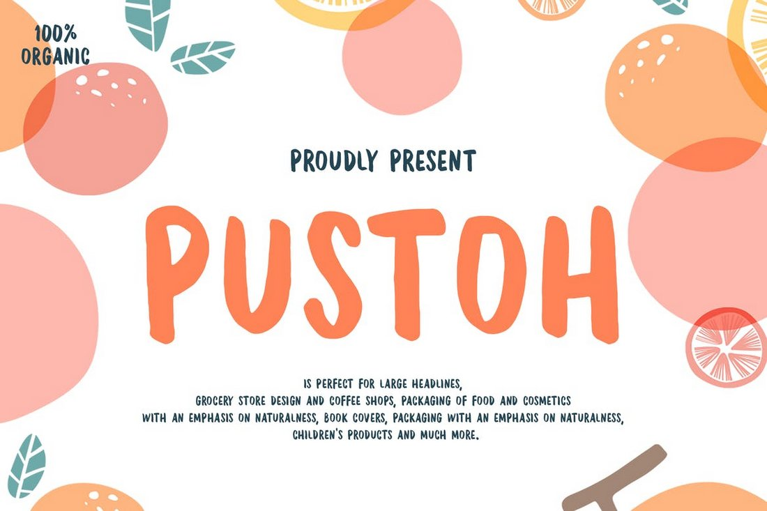 Pustoh - Creative Hand Lettering Font